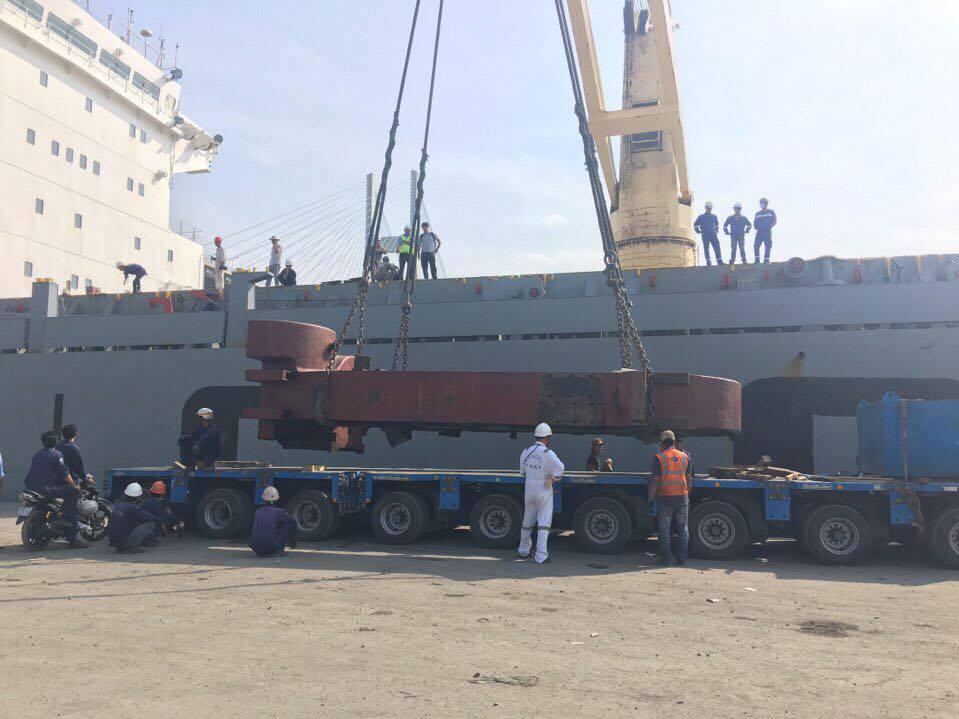 Vận chuyển hàng dự án khung máy cán